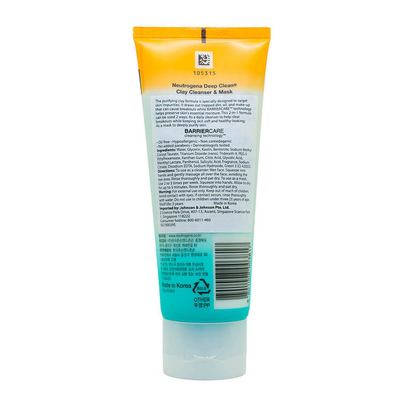 Neutrogena Deep Clean Purifying Clay Mask, 100g