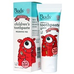 Buds Organics Children's Toothpaste with Xylitol 1-3 Years Strawberry 50mL