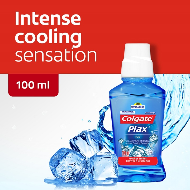 Colgate Mouthwash Plax Ice, 100ml