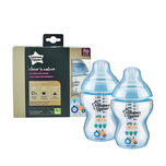 Tommee Tippee Closer to Nature® PP Tinted Bottle Blue 260mL X2 bottles