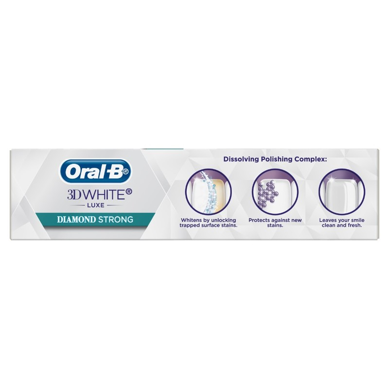 Oral-B 3D White Luxe Diamond Strong Toothpaste, 95g