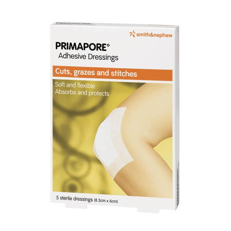 Smith & Nephew Primapore Adhesive Dressing (8.3 cm x 6 cm), 5s