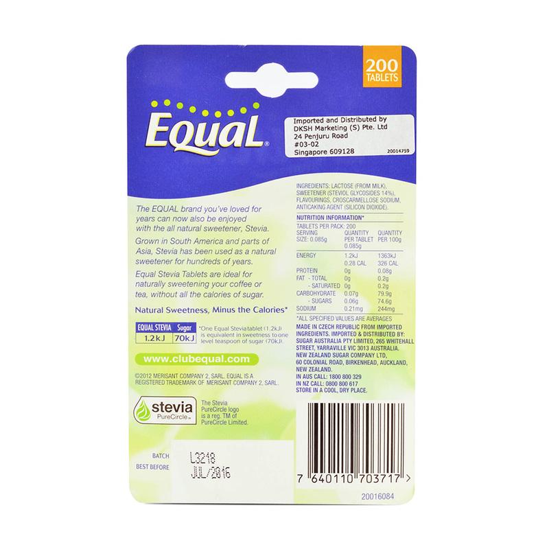 Equal Stevia Tablets, 200 tablets