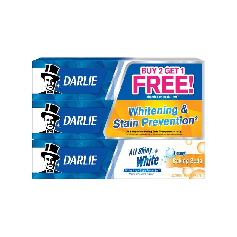 Darlie All Shiny White Baking Soda Whitening Toothpaste 3x140g