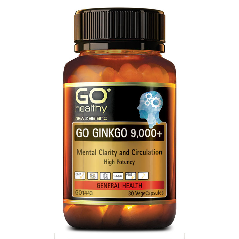 GO Healthy Ginkgo 9000+, 30 capsules