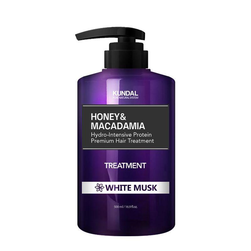 KUNDAL Honey & Macadamia Hair Treatment - White Musk 500ml