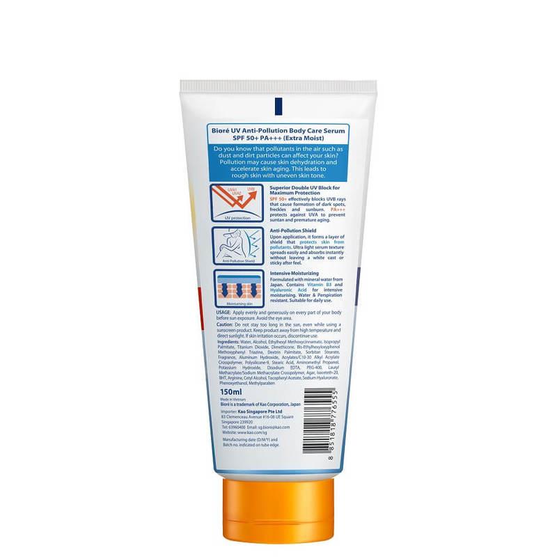 Biore UV Anti-Pollution Body Care Serum SPF 50+ Extra Moist, 150ml