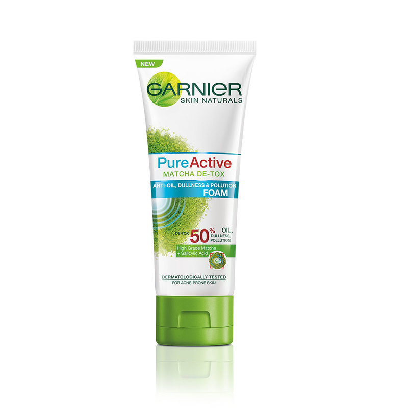 Garnier Pure Active Matcha Detox Foam, 100ml