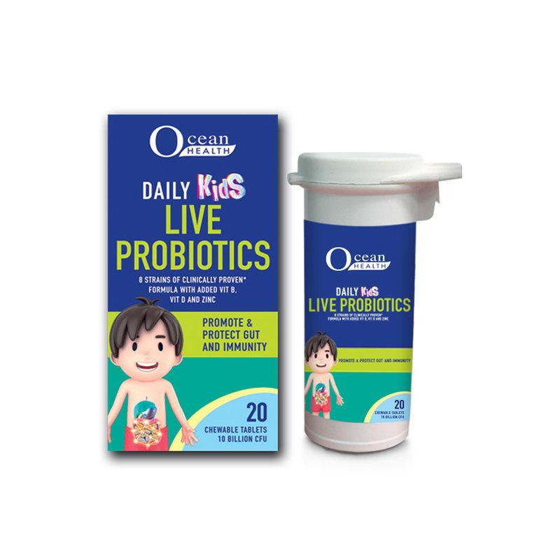 Ocean Health Daily Kids Live Probiotics, 20 tablets