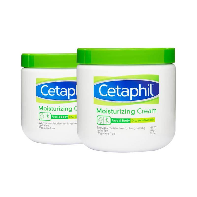Cetaphil Moisturizing Cream Twin Pack, 2x453g