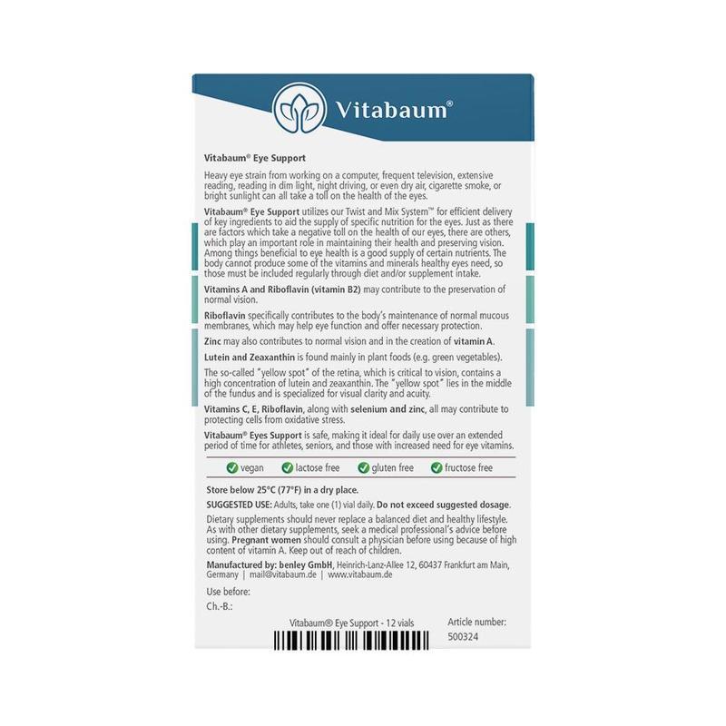Vitabaum  Eye Support Vitamins 12 vials, 10ml each