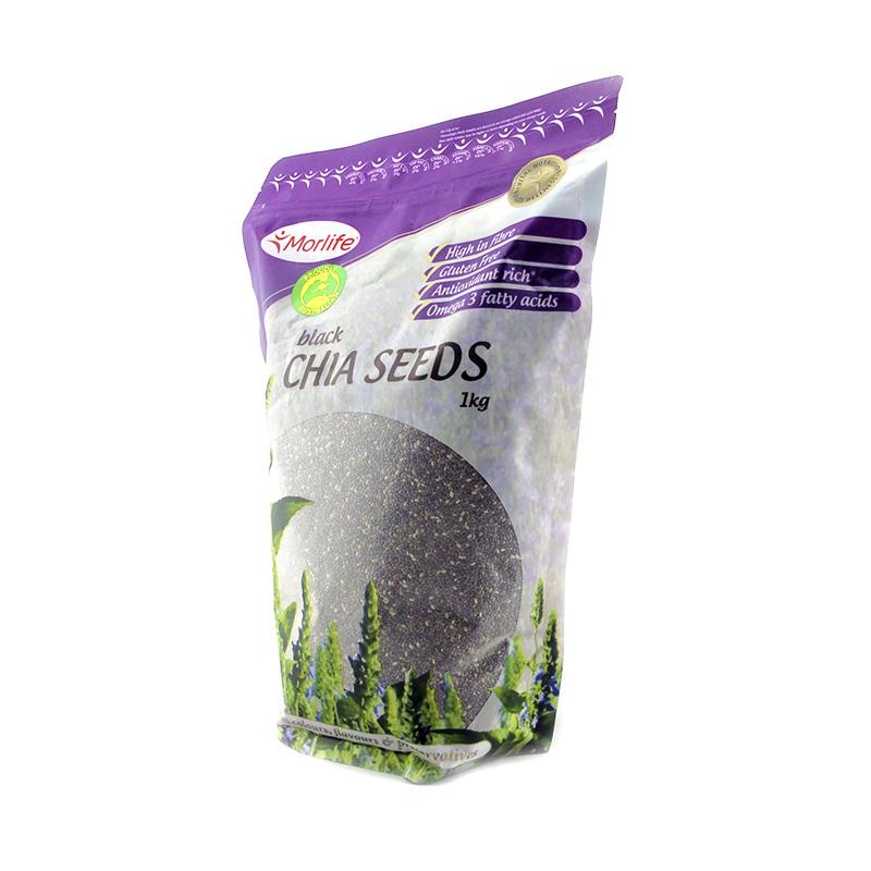 Morlife Black Chia Seeds, 1kg