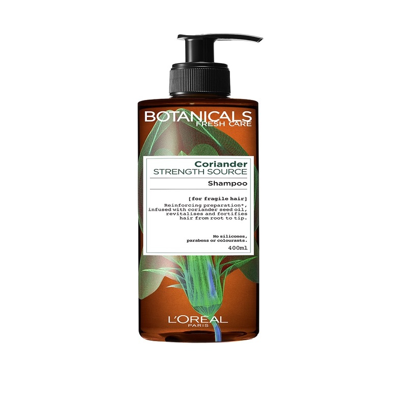 L'Oreal Botanicals Coriander Strength Source Strengthening Shampoo, 400ml