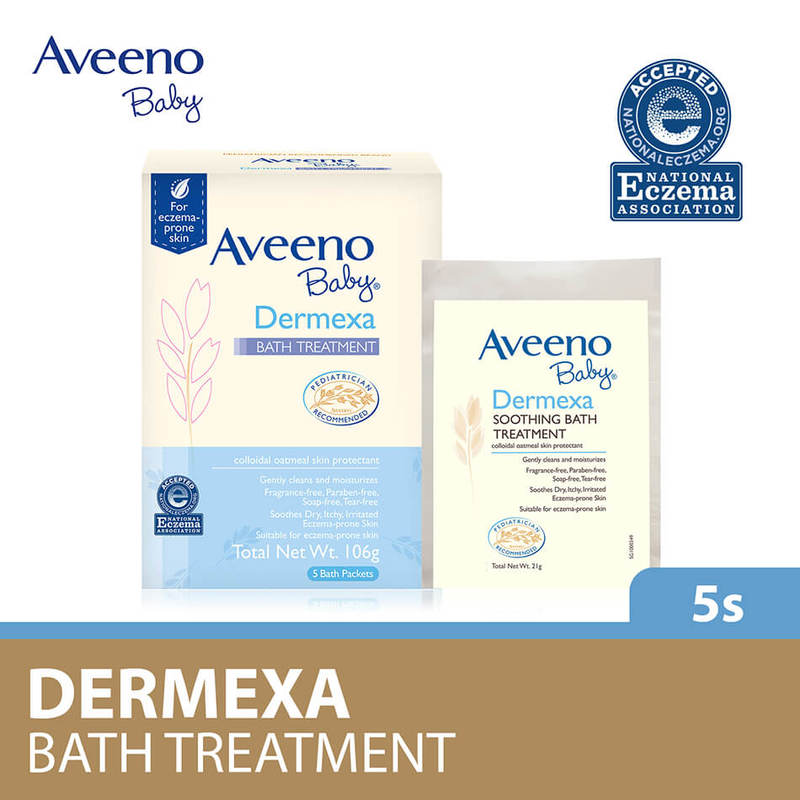 Aveeno Baby Dermexa Soothing Bath Treatment, 5x21g