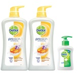 Dettol Proskin Honey Glow Shower Cream 950gx2