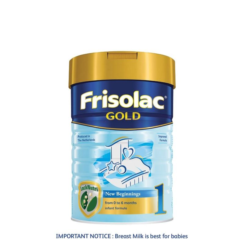 Frisolac Gold Stage 1 900g - Infant Newborn Baby Milk Formula for Newborn 0-6 months