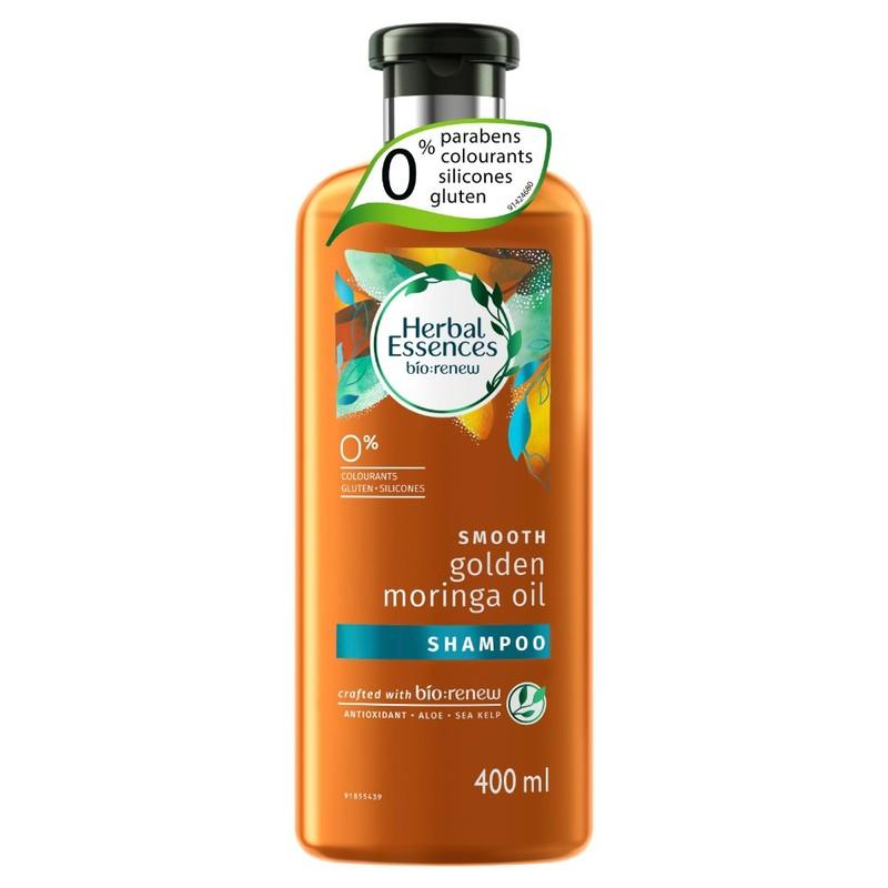 Herbal Essences SMOOTH Golden Moringa Oil Shampoo, 400ml