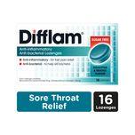 Difflam Anti-Inflammatory Anti-bacterial Eucalyptus & Menthol Sugar Free Lozenges, 16pcs