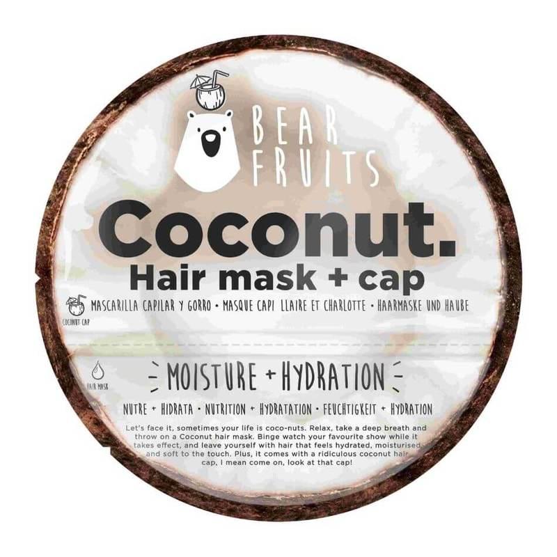 Bear Fruits Coconut Moisture Hydration Hair Mask & Hair Cap 20ml