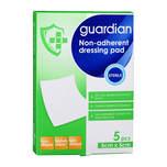 Guardian Non-Adherent Dressing Pads 5cm x 5cm, 5pcs