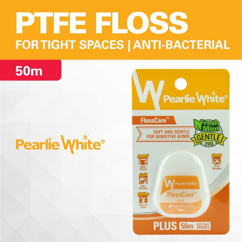 Pearlie White Flosscare Plus Mint Floss, 50m
