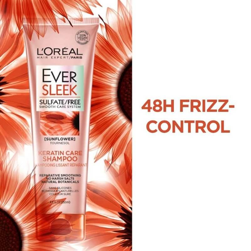 L'Oreal Paris EverSleek Keratin Caring Shampoo 250ml