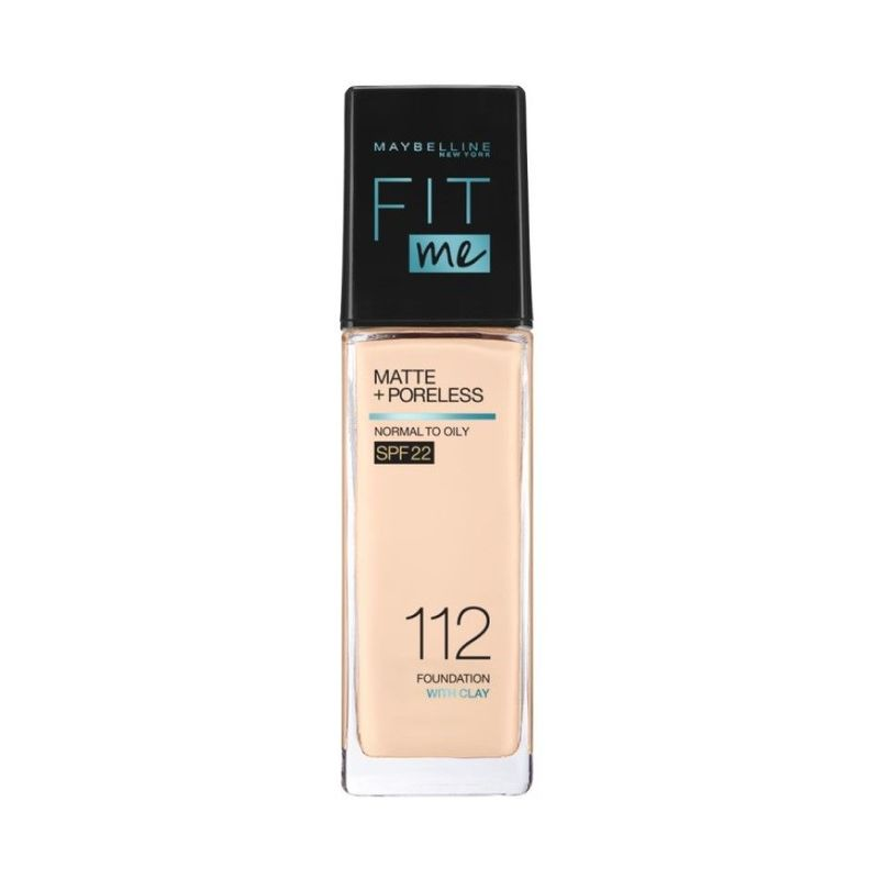 Maybelline Fit Me Matte + Poreless Liquid Foundation 112 Natural Ivory (Pump) 30ml