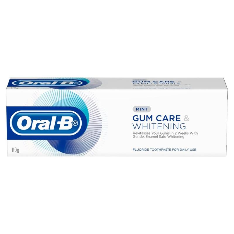 ORAL B gum care whitening fluoride toothpaste 110g