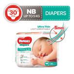 Huggies Platinum Diapers New Born, 30pcs