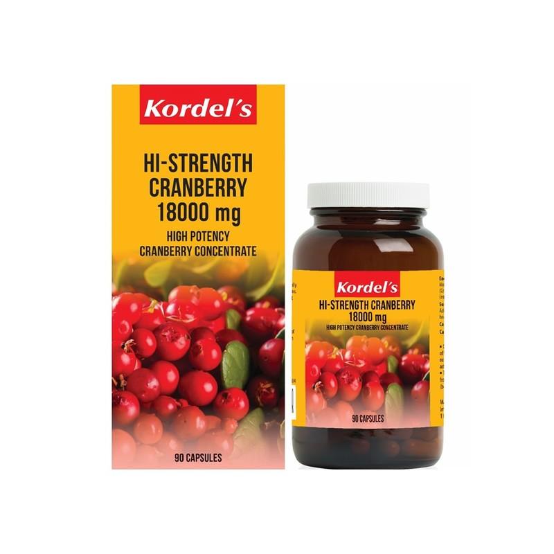 Kordel's Hi-Strength Cranberry 18,000mg 90s