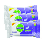 Dettol Sensitive Personal Care Wipes Triple Pack, 3x10pcs