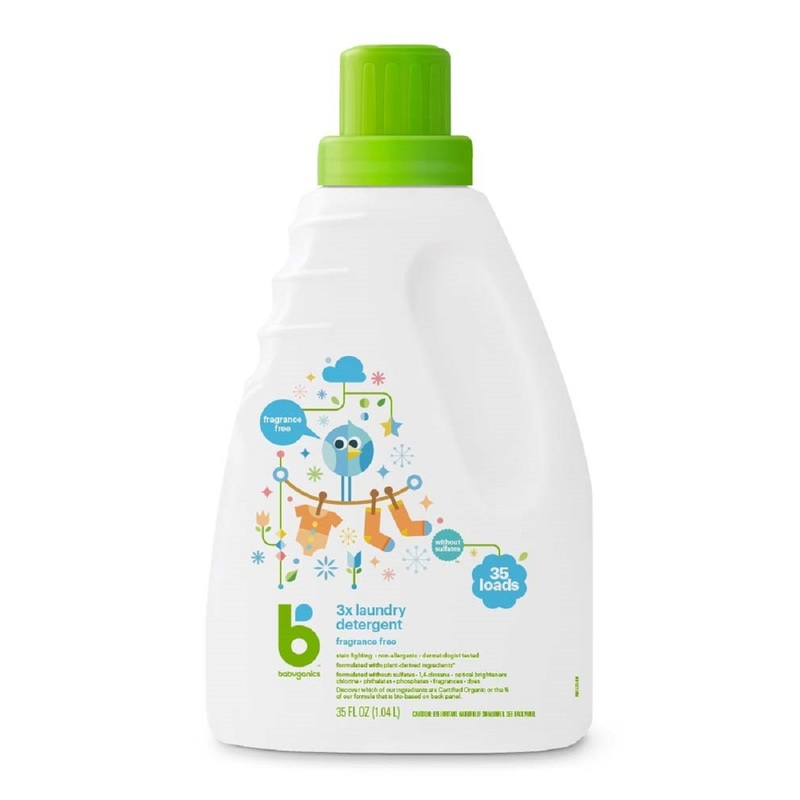 Babyganics Laundry Detergent (Fragrance Free) 1040mL