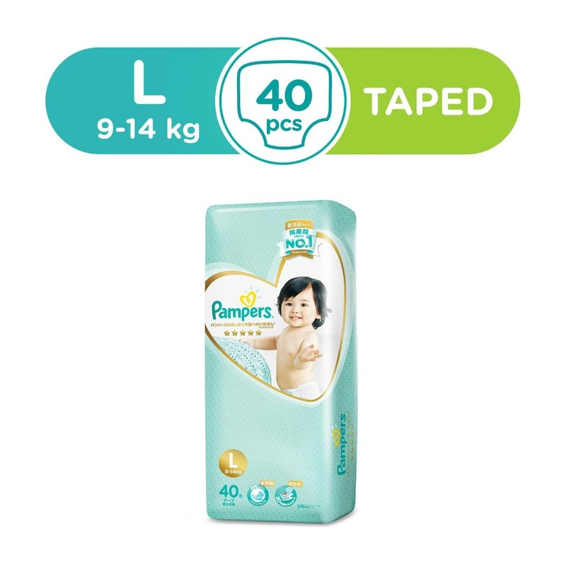 Pampers Silk Diaper L, 40pcs