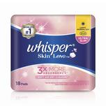 WHISPER skin love ultra slim day night sanitary napkin 28cm 16pads