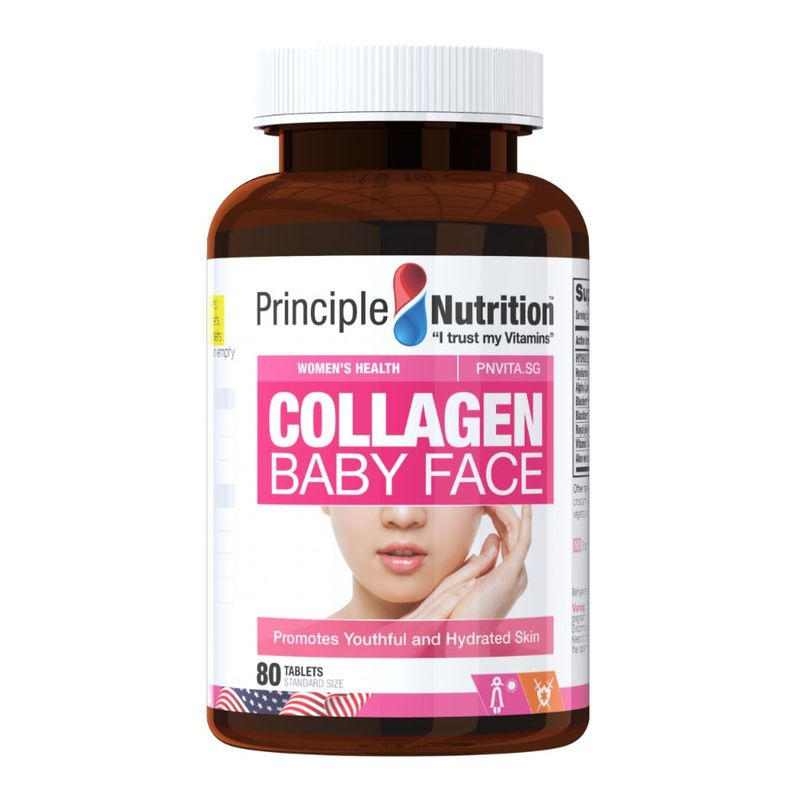 Principle Nutrition Collagen Baby Face, 80 tablets