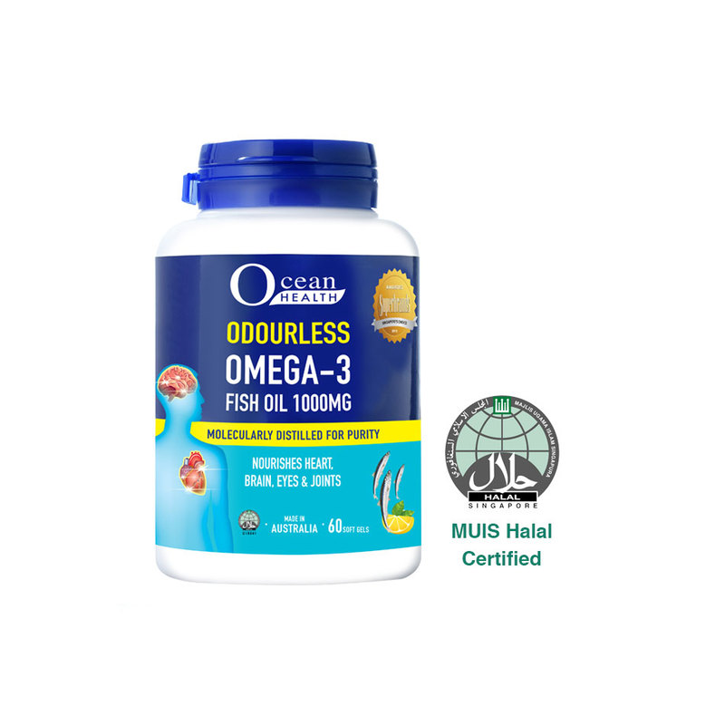 Ocean Health Odourless Omega 3 1000mg, 60 softgels