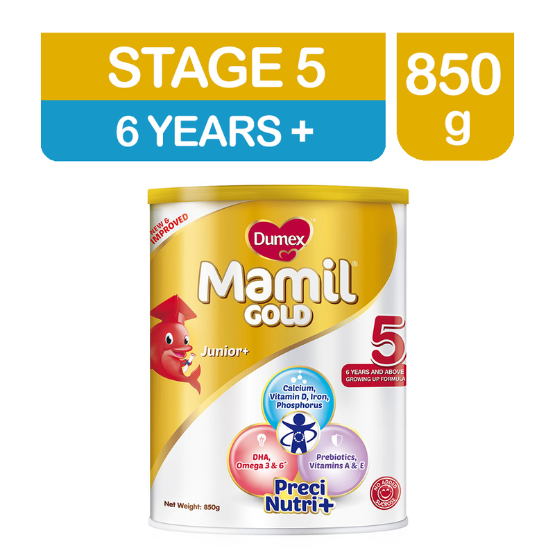 Dumex Mamil Gold Step 5 Kid's Milk Formula, 850g