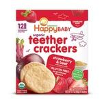 HappyBaby Organic Teething Wafers(Strawberry & Beet) 4g x12pcs