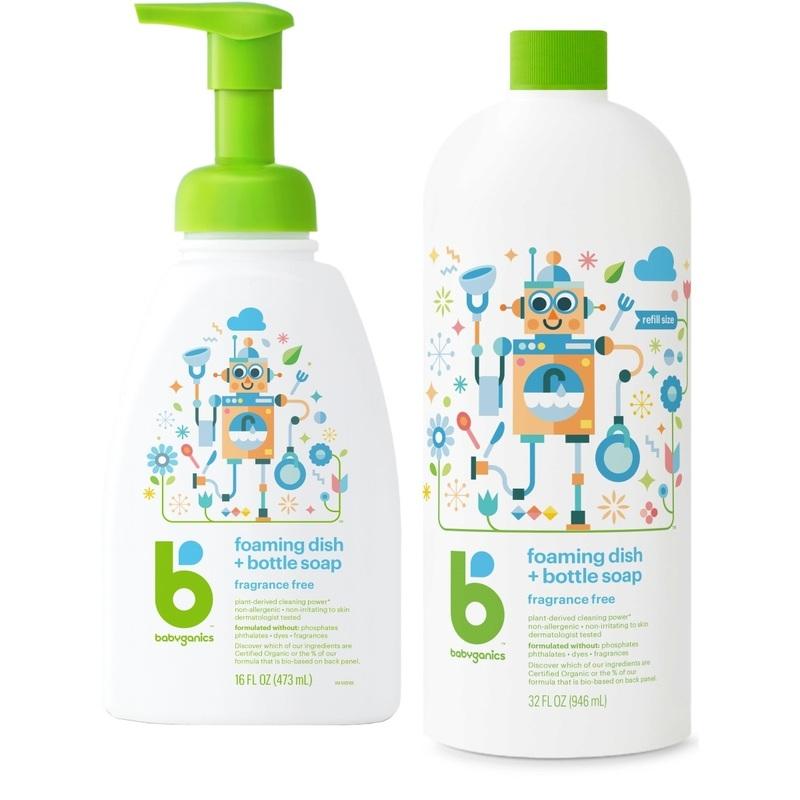 Babyganics Dish&Bottle Soap 946mL+473mL