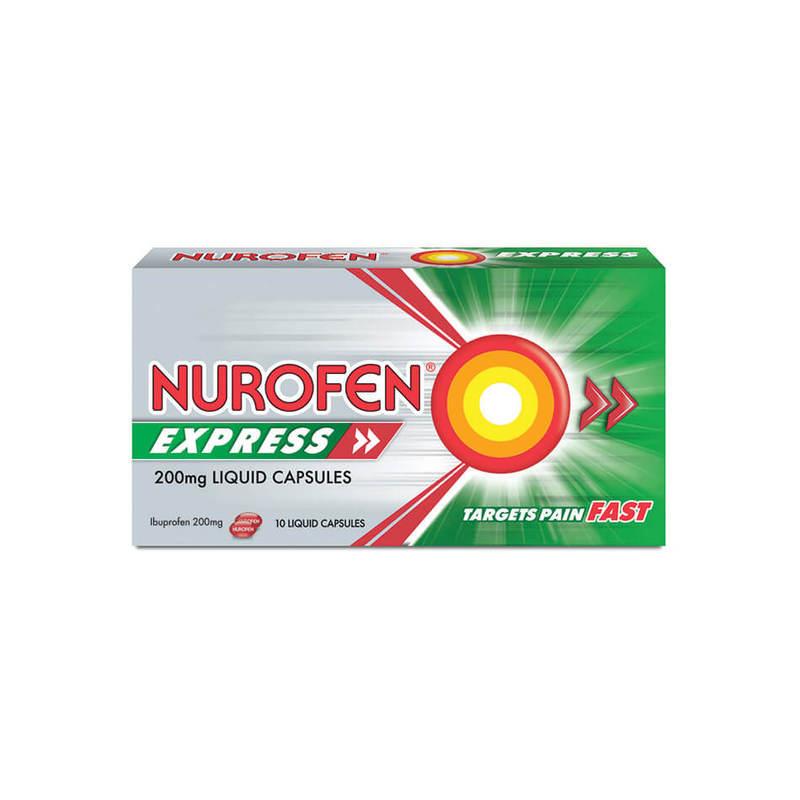Nurofen Express 200mg Liquid Capsules, 10 capsules