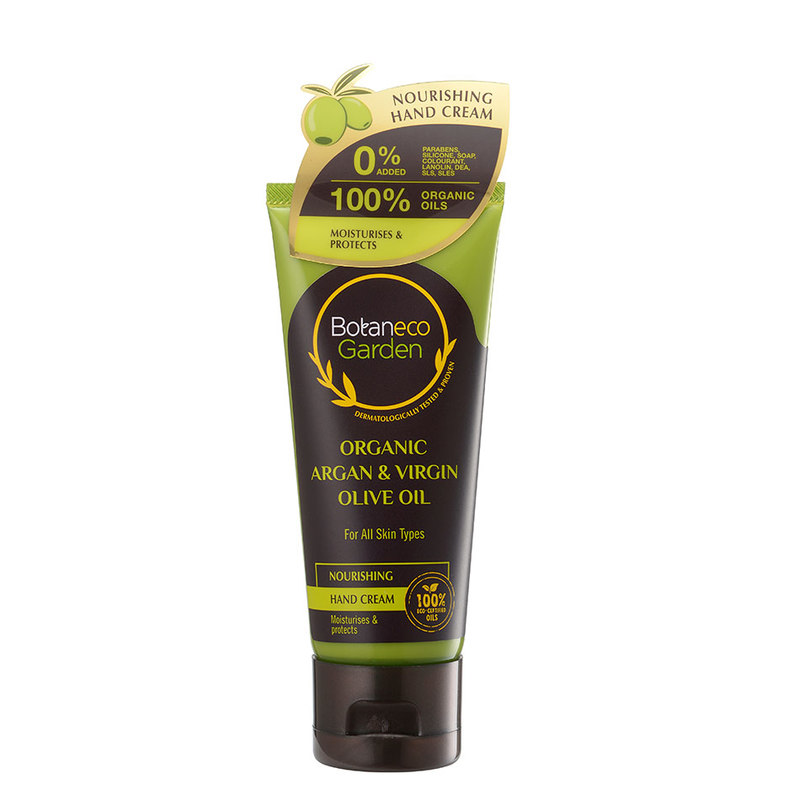 Botaneco Garden Argan and Virgin Olive Oil Hand Cream Nourishing, 60ml