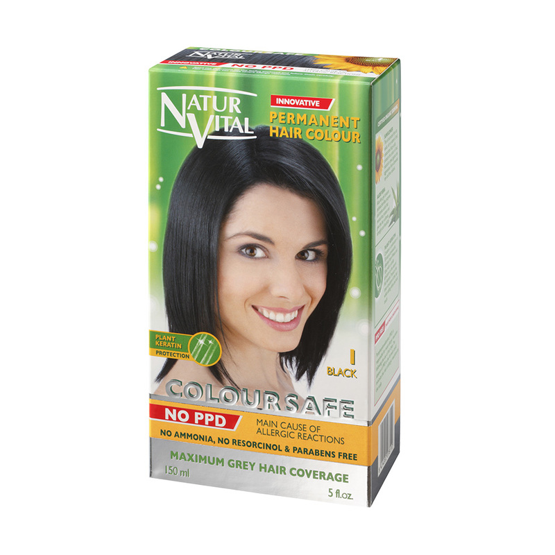 Natur Vital ColourSafe Permanent Hair Dye Black
