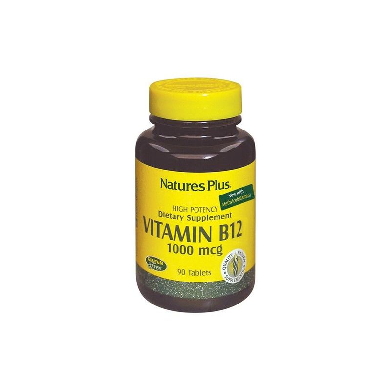 Natures Plus Vitamin B-12 1000mcg, 90 tablets