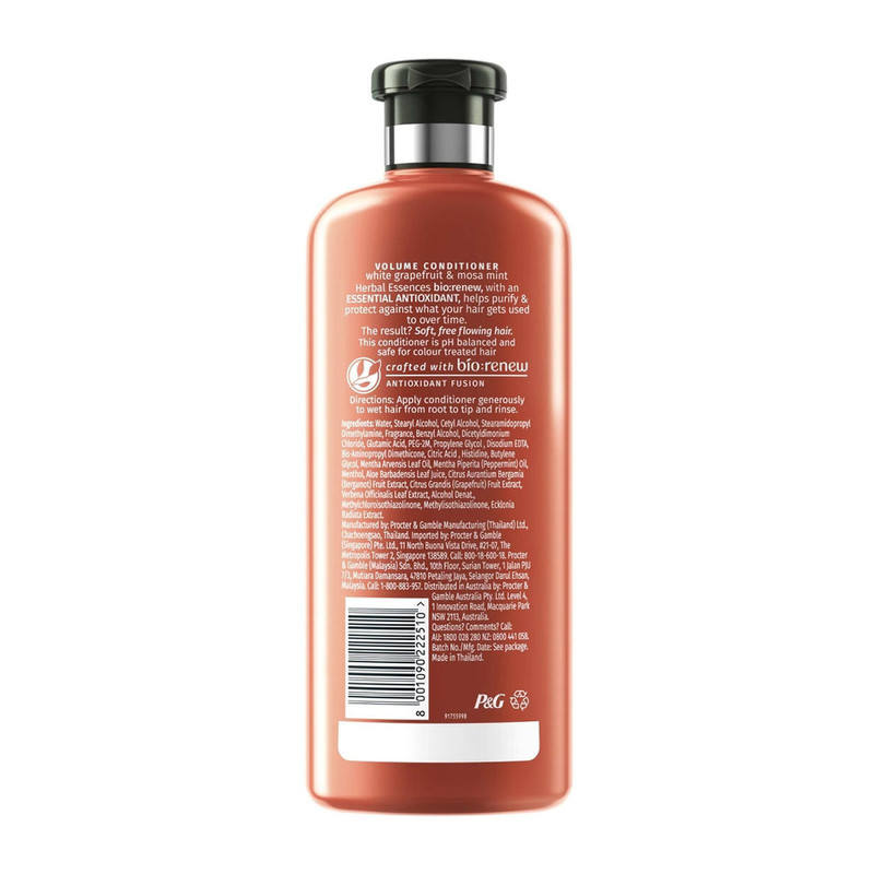Herbal Essences VOLUME White Grapefruit and Mosa Mint Conditioner, 400ml