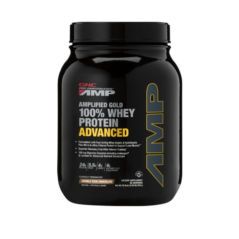 GNC AMP Gold 100% Whey Protein Advanced(Chocolate)