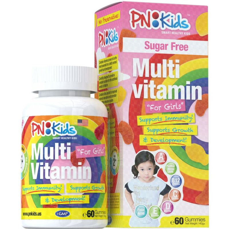 PNKids Multivitamins + Minerals Sugar-Free Girls, 60 Gummies