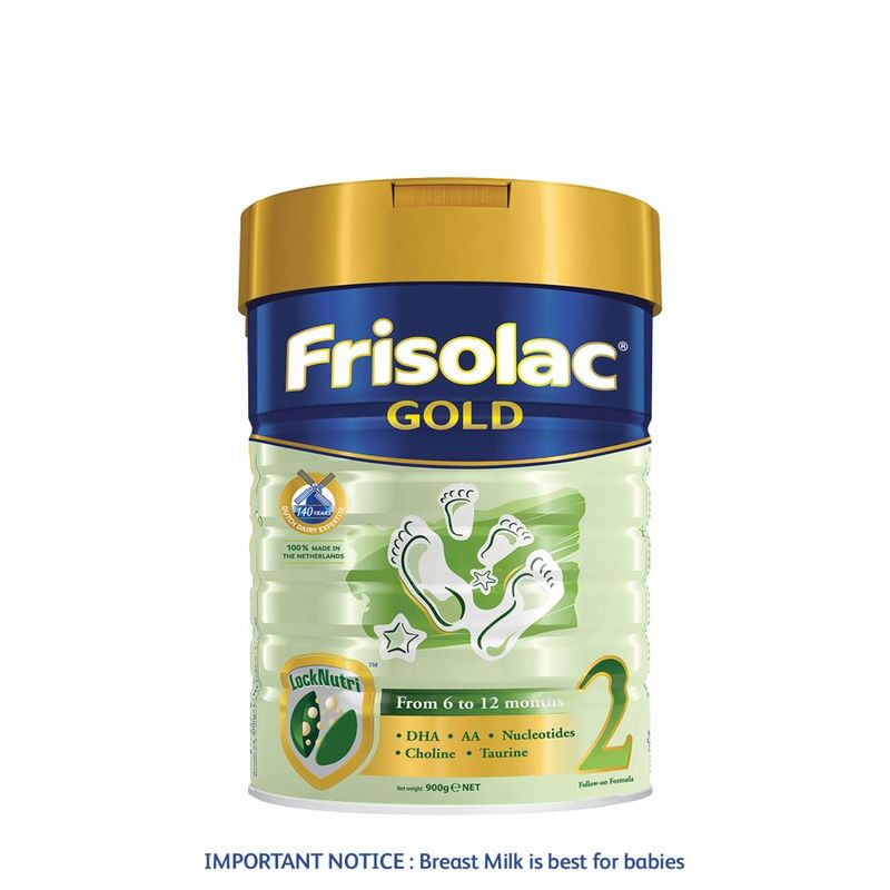 Frisolac Gold 2 Follow-On 900g - Infant Baby Milk Formula for 6-12 months