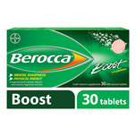 Berocca Boost Vitamin B+ Guarana Energy Effervescent Tablet, 30 tablets