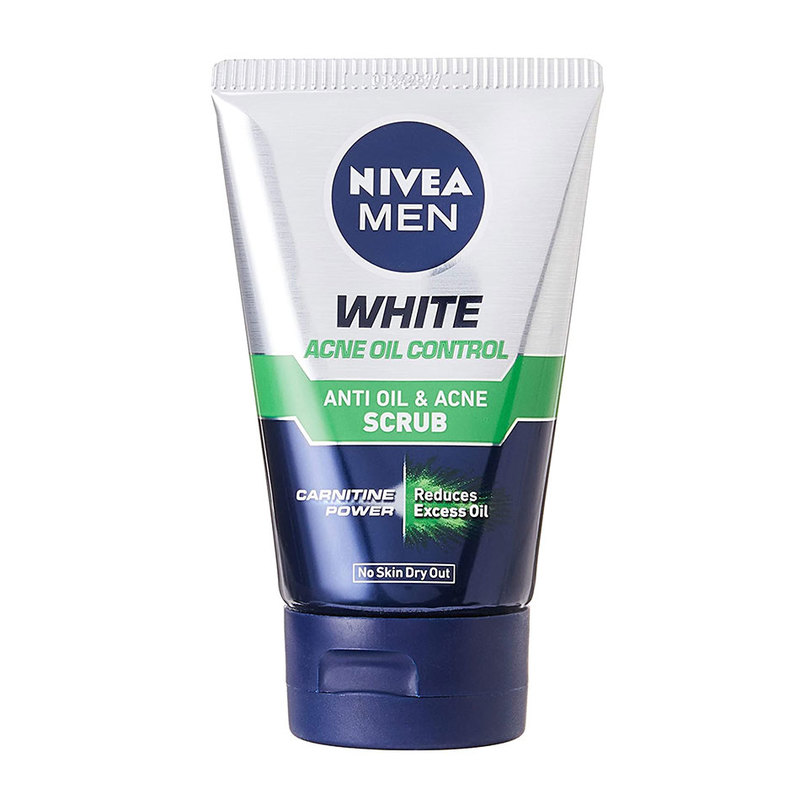 Nivea Men White Acne Oil Control Scrub, 100g