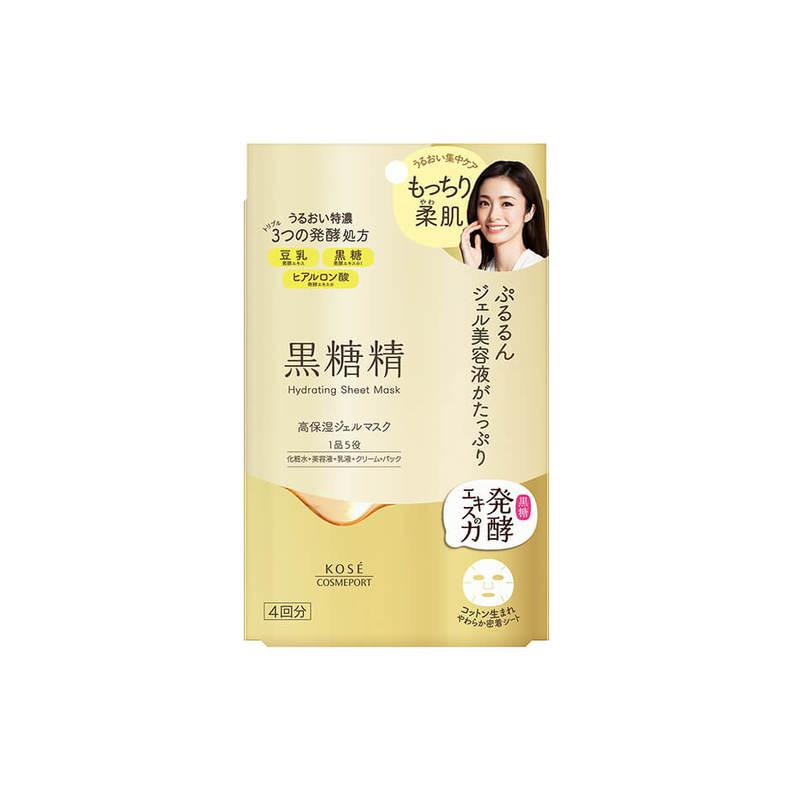 Kose Cosmeport Kokutousei Moist Hydrating Sheet Mask, 4pcs